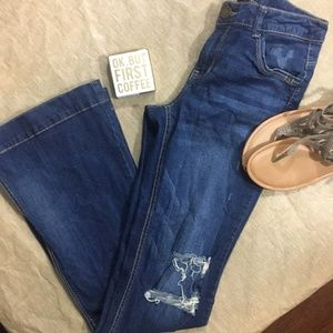 Democracy Dark Wash Liberty Bell Flare Jeans 4